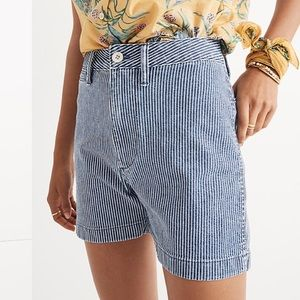 Madewell Emmett Shorts in Piper Stripe Size 28